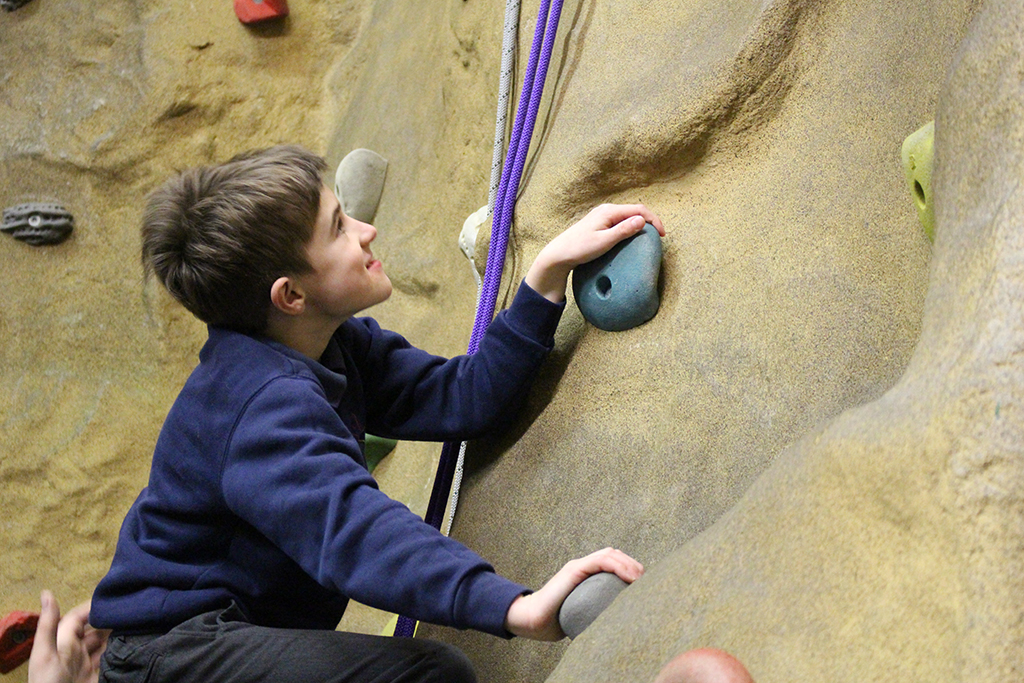 Visit to the Climbing Wall - Your Space Wales